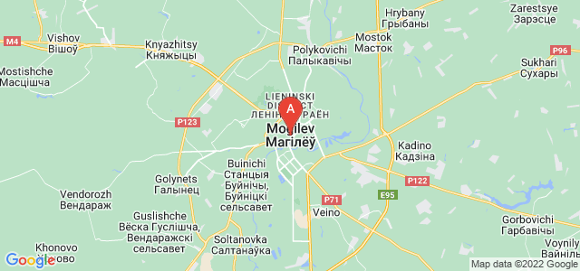 map of Mahilyow, Belarus