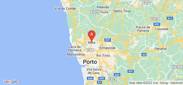 map of Maia, Portugal