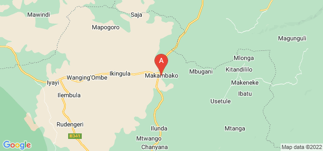 map of Makambako, Tanzania