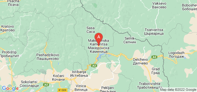 map of Makedonska Kamenica, Republic of Macedonia