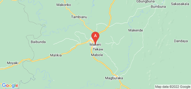 map of Makeni, Sierra Leone