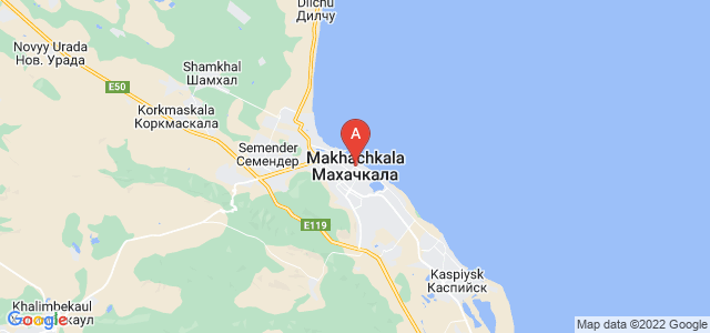 map of Makhachkala, Russia