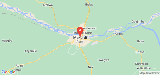 map of Makurdi, Nigeria
