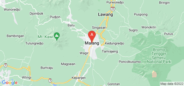 map of Malang, Indonesia