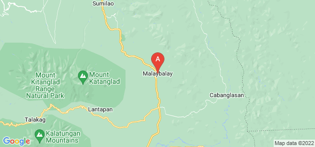 map of Malaybalay, Philippines
