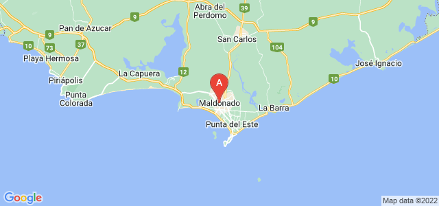 map of Maldonado, Uruguay