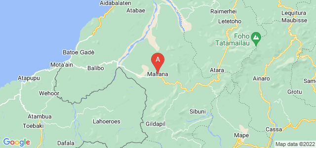 map of Maliana, East Timor