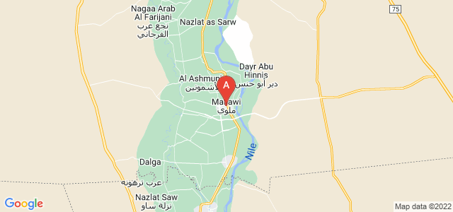 map of Mallawi, Egypt