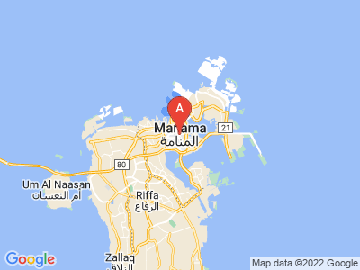 map of Manama, Bahrain