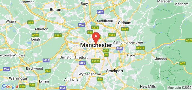 map of Manchester, United Kingdom