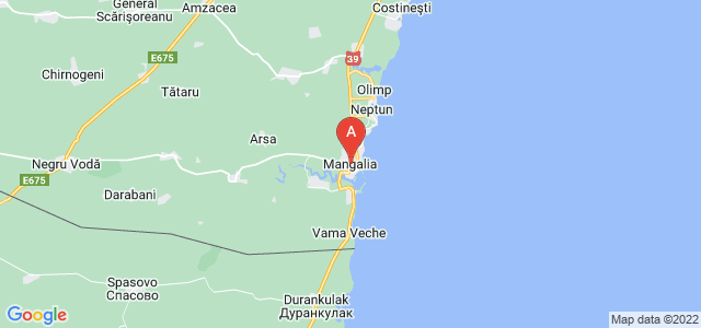 map of Mangalia, Romania