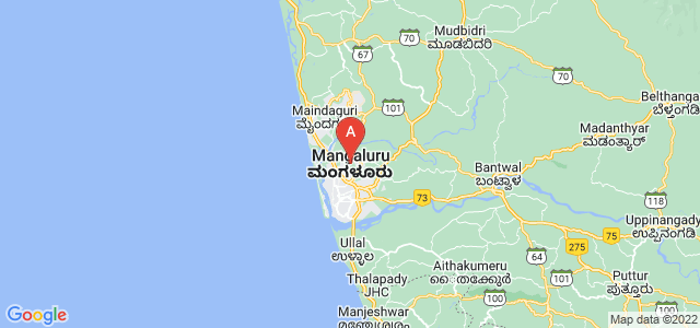 map of Mangalore, India