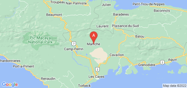 map of Maniche, Haiti