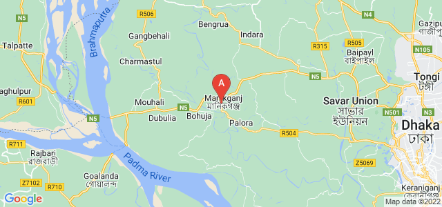 map of Manikganj, Bangladesh