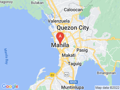 map of Manila, Philippines
