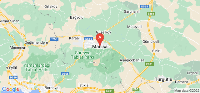 map of Manisa, Turkey