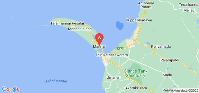 map of Mannar, Sri Lanka