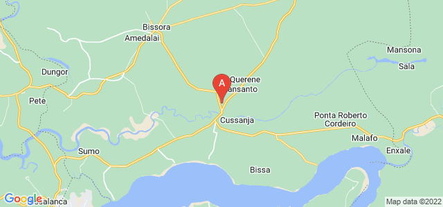 map of Mansôa, Guinea-Bissau