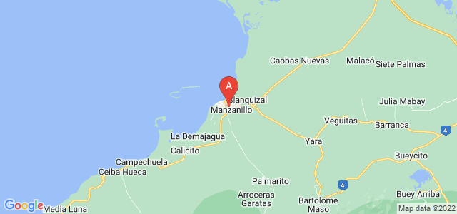 map of Manzanillo, Cuba