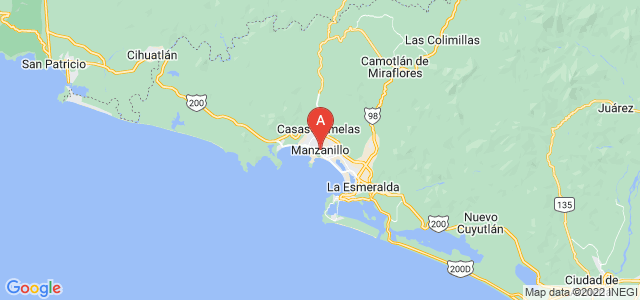 map of Manzanillo, Mexico
