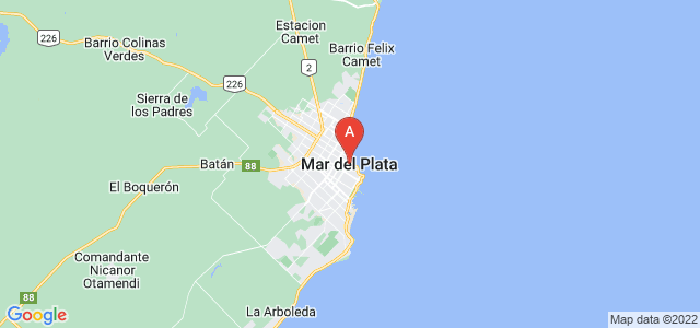 map of Mar del Plata, Argentina