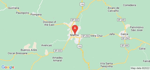 map of Marília, Brazil