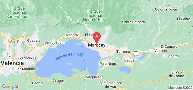 map of Maracay, Venezuela