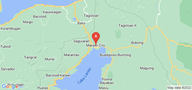 map of Marawi, Philippines