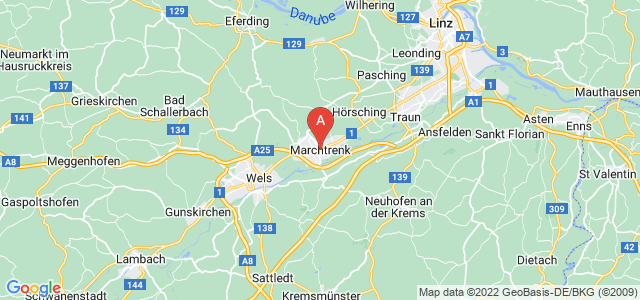 map of Marchtrenk, Austria