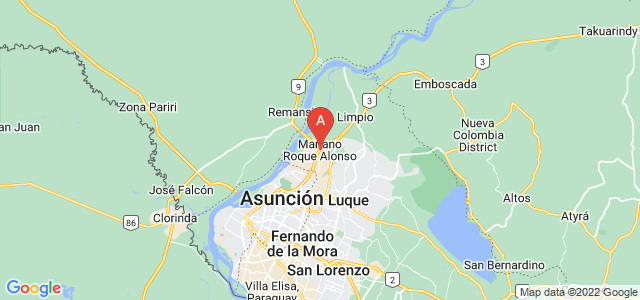 map of Mariano Roque Alonso, Paraguay