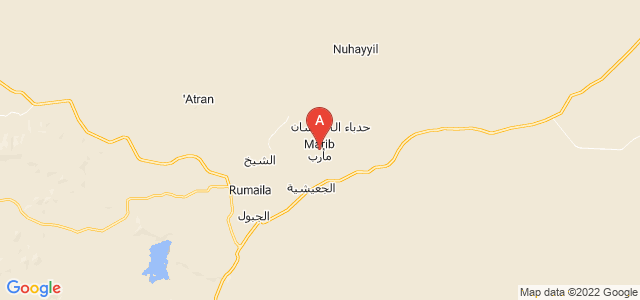 map of Marib, Yemen