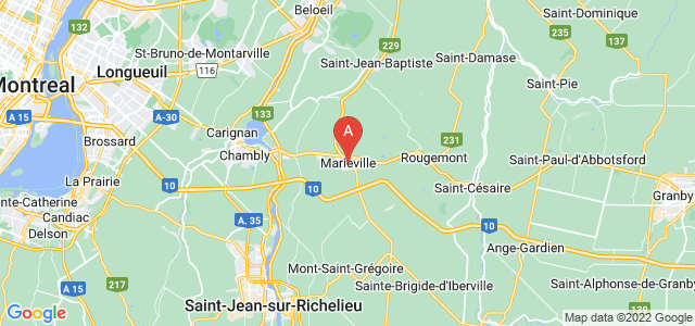 map of Marieville, Canada