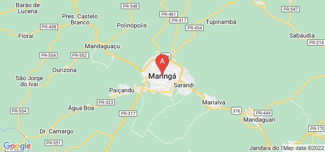 map of Maringá, Brazil