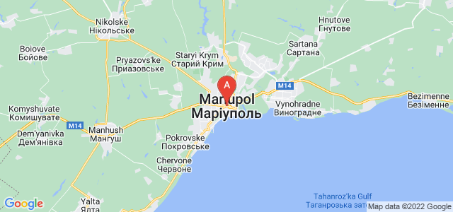 map of Mariupol, Ukraine