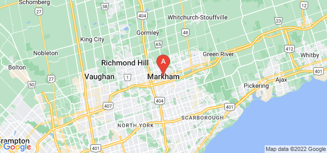 map of Markham, Canada