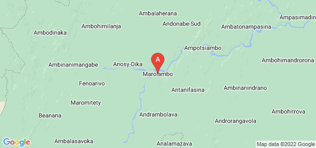 map of Marolambo, Madagascar