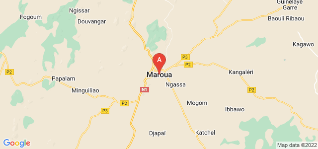 map of Maroua, Cameroon