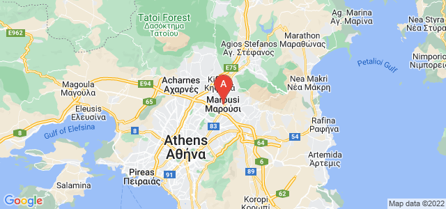 map of Marousi, Greece