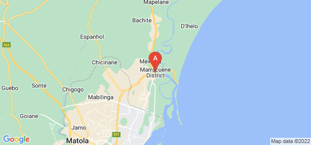 map of Marracuene, Mozambique