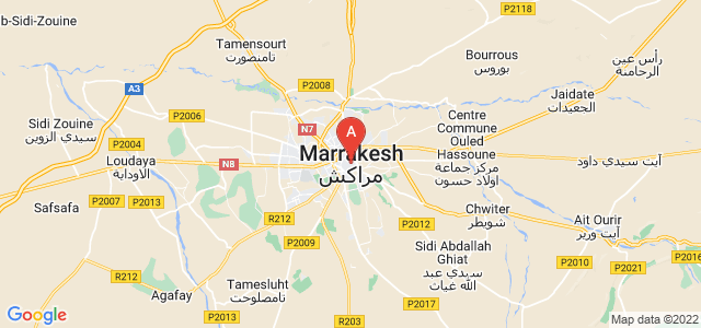 map of Marrakech, Morocco