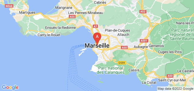 map of Marseille, France