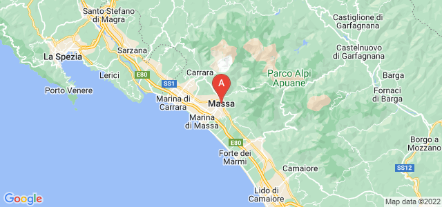map of Massa, Italy