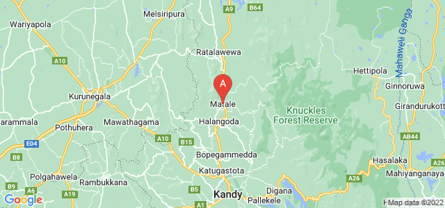map of Matale, Sri Lanka