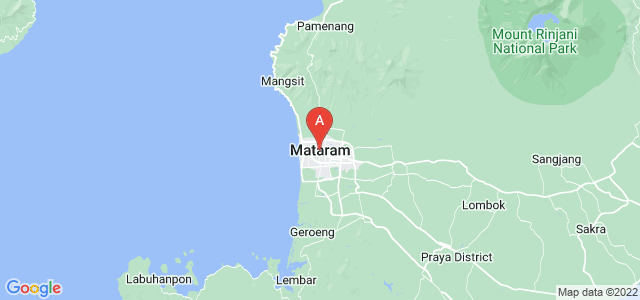 map of Mataram, Indonesia
