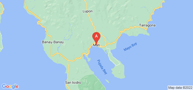 map of Mati, Philippines