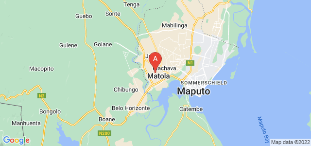 map of Matola, Mozambique