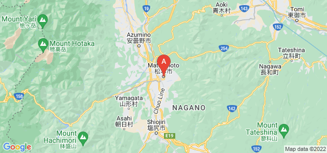 map of Matsumoto, Japan