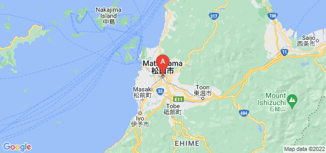map of Matsuyama, Japan