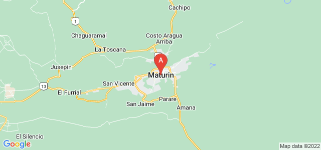 map of Maturín, Venezuela