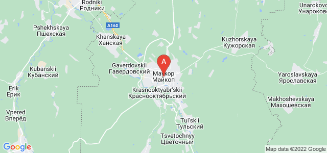map of Maykop, Russia